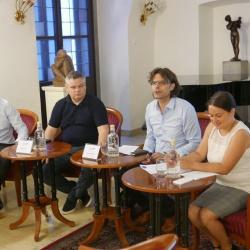 AlpSIb predstavitev (Dr. Matjaž Černigoj in Dr. Damjan Kavaš (IER), Mag. Gregor Sakovič (CIP NLB), Petra Pavšič (RRA LUR)