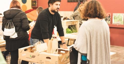 Podjetniški inkubator ABC HUB v BTC Cityju se je tokrat spremenil v Borzo lokalnih živil
