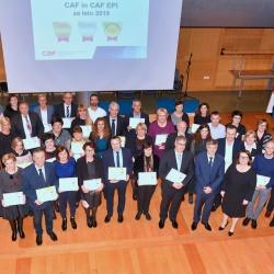Svečana podelitev priznanj CAF - skupinska fotografija (foto Mišo Franc Sotlar)