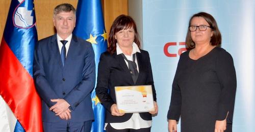 RRA LUR prejela priznanje »Uporabnik modela kakovosti CAF«
