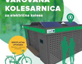 Vabilo na otvoritev prve varovane kolesarnice za električna kolesa