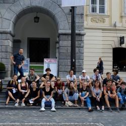Obisk dijakov švicarske gimnazije Burgdorf - dobre prakse trajnostne mobilnosti v regiji