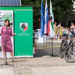 opening of the secured E-bike storage - MUSE Interreg 20.6. 2019