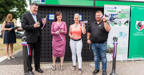 Official opening of the secured E-bike storage