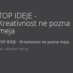 TOP IDEJE - Kreativnost ne pozna meja