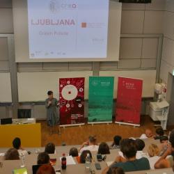 Uvodoma je z motivacijskim govorom udeležence pozdravila direktorica RRA LUR, mag. Lilijana Madjar
