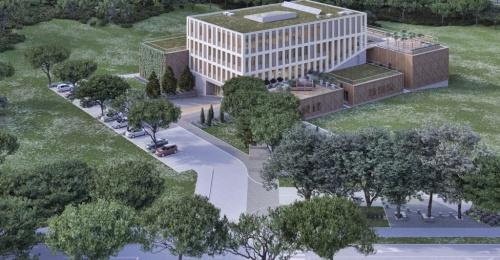 Začetek gradnje največje lesene zgradbe v Sloveniji