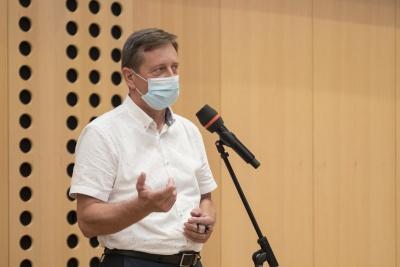 Posvet: Vpliv večletnega finančnega okvira 2021–2027 na KRZS. Igor Ahačevčič, župan Občine Dobrepolje. Foto: Aleš Rosa