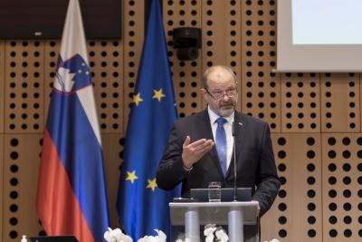 Posvet: Vpliv večletnega finančnega okvira 2021–2027 na KRZS. Nagovor predsednika Državnega sveta RS Alojza Kovšce. Foto: Aleš Rosa