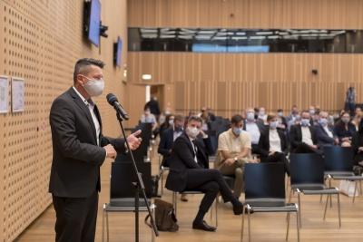 Posvet: Vpliv večletnega finančnega okvira 2021–2027 na KRZS. Aco Franc Šuštar, župan Občine Vodice. Foto: Aleš Rosa
