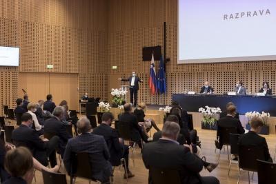 Posvet: Vpliv večletnega finančnega okvira 2021–2027 na KRZS. Zvonko Černač, minister pristojen za razvoj in evropsko kohezijsko politiko. Foto: Aleš Rosa