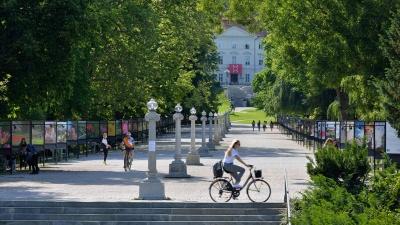 Kolesarjenje v Ljubljani. Foto: Miran Kambič