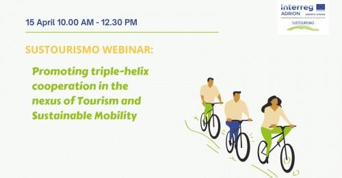 Vabljeni na webinar Promocija koncepta trojne spirale za iskanje povezav turizma in trajnostne mobilnosti