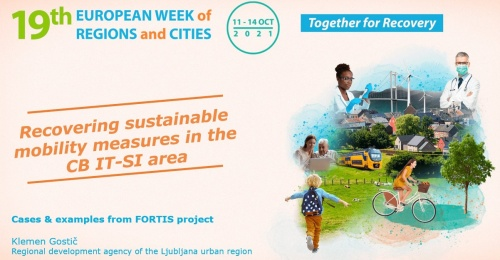 RRA LUR s projektom FORTIS na spletni delavnici v okviru 19. evropskega tedna regij in mest